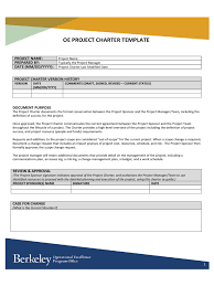 project charter sample project charter template excel image collections templates