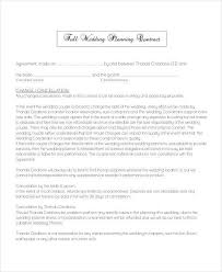 wedding planning contract templates 5 planner contract samples templates pdf doc
