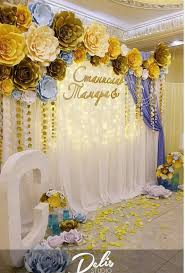 Paper Flower Wedding Backdrops Paper Flowers Backdrop Paper Flower Backdrop Wedding