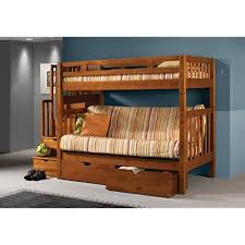 couch bunk bed. Tall Twin Over Full Futon Mission Honey Stairway Bunk Bed With Drawers Couch
