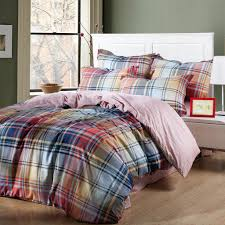 rainbow plaid and striped king size bedding sets