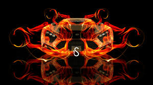 zenvo st1 front fire abstract car