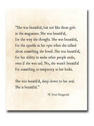 She Was Beautiful Quote F Scott Fitzgerald Book Best Of F Scott Fitzgerald Quote Print She Was Beautiful Fitzgerald
