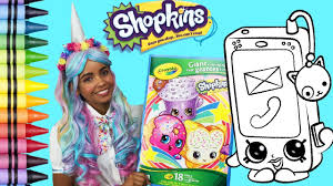Shopkins Smarty Phone Coloring Page Jessi The Unicorn Youtube