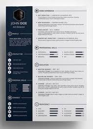 Free Template Resume Delectable Resume Infographic Modern Cv Resume Photoshop PSD Editable