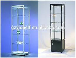 idea glass display case with lights and glass display cabinet glass display case with top spot