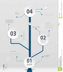 Simple Info Graphics Simple Timeline Infographics Design Stock Vector Illustration Of