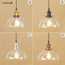 loft retro pendant lamp adjule suspension simple glass lights for cafe bar led light modern orb