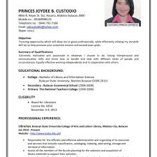 Example Of Resume Letter For Job Example Of Resume Letter For Application Examples Of Resumes 17