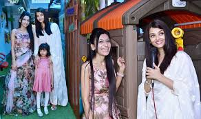 aishwarya rai bachchan with daughter aaradhya bachchan at kookaburra learning center launch event entertainment news india