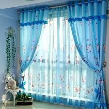 Blue Curtains For Bedroom Royal Luxury Embroidery High Shade ...