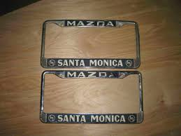 looking for info on plate frames from santa monica mazda keltic sfd jan11