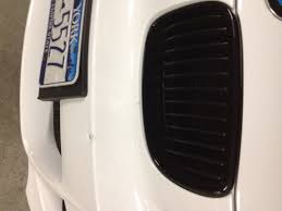 here is a shot after applying the bmw alpine white touch up paint