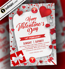 Valentines Flyers Free Psd Flyer For Happy Valentines Day Party Indiater