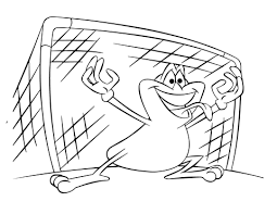 Small Picture Soccer Goalie Frog coloring page Free Printable Coloring Pages