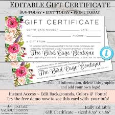 Store Gift Certificate Template Pin By Mla Designs On Gift Certificates Pinterest Gift
