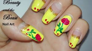 Beauty and the Beast Inspired Nail Art Tutorial: DIY Enchanted ...