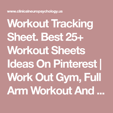 Workout Tracking Sheet. Best 25+ Workout Sheets Ideas On Pinterest ...