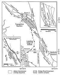 Figure 1 simplified geologic map of the southern coast mountains of british columbia and adjacent