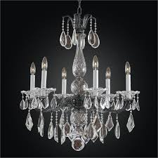 old world crystal 6 light chandelier english manor 546md6l2mp 7c