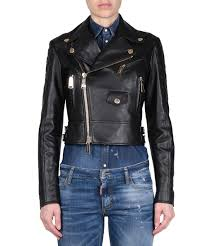 l inde le palais dsquared2 women collections spring summer 17 black leather perfecto jacket