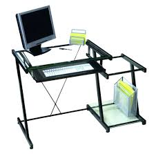 santorini l shaped computer desk interior unusual design inspiration with contemporary clear glass and cool black