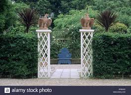garden pillars. Garden Entrance Wood Pillars Stone Ornamental Birds Italianate C