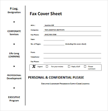 professional fax cover sheet fax cover page printable tree fax cover sheet word format