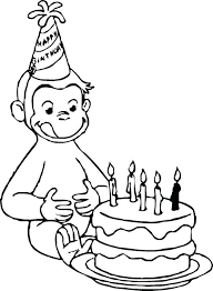 Curious George Color Pages Curious Coloring Pages Printable Stunning