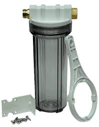 the clear inline hose filter removes