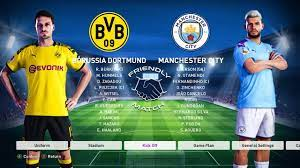 Manchester City vs Borussia Dortmund - PES 2020 - YouTube