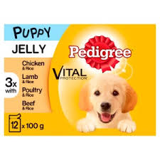 Pedigree Puppy Food Pouches Mixed Selection In Jelly Pets