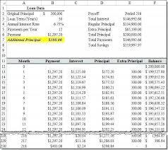 Additional Principal Payment Calculator Loan Calculator Excel Spreadsheet New Extra Principal Loan