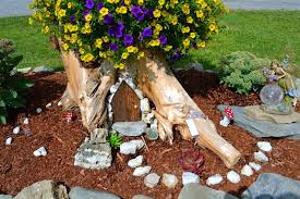 Amazing Tree Stump Fairy Garden Ideas