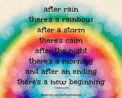 After Rain There's A Rainbow After A Storm There's Calm After The Mesmerizing After The Storm Quotes
