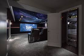 sony 4k projector. denver broncos-themed home theater features savant automation, sony 4k projector 4k