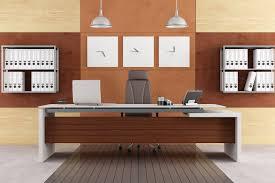 elegant modern office with executive desk