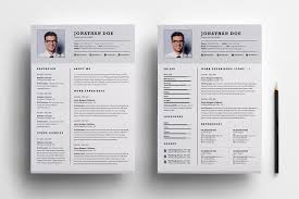 2 Page Resume Format Free Download Professional Two Page Resume Set