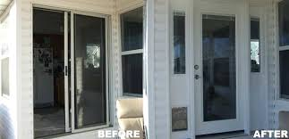 window door replacement projects gallery replacing a sliding glass before after replace with hinged