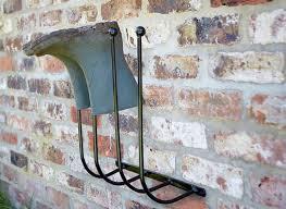 wall mounted metal wellington boot rack