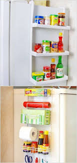 hang a rack on the side of your fridge
