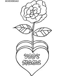 Kleurplaat Hart Valentijn Moederdag Vaderdag Kleurplaten Hart