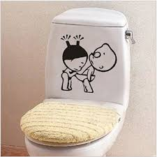 Small Picture Funny Bathroom Decor Home Decoration Creative Toilet Stickers For