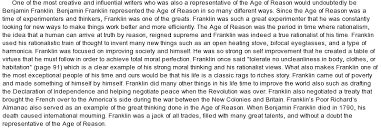 on ben franklin essay on ben franklin