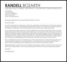Chemistry Teacher Cover Letter Sample Cover Letter