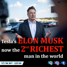 Elon Musk now the 2nd richest man ...