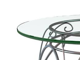 get ations 36 inch round 1 4 inch thick flat polished edge tempered glass table