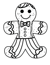 Gingerbread Man To Color Gingerbread Coloring Pages Luxury