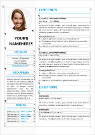picture resume templates elegant resume template