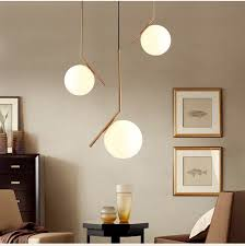 modern minimalist art deco pendant lights ball gl shade globe led hanging l for living room